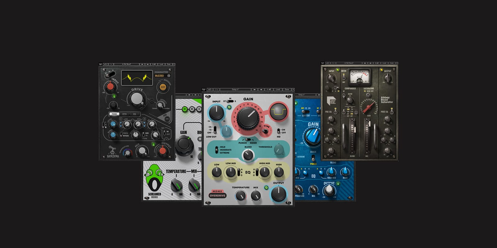 Waves Now Shipping Three Distortion Plugins: Berzerk, Abbey Road Saturator and MDMX Distortion Modules